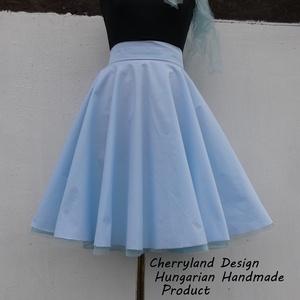 Cherryland Design-Kék  Rockabilly stílusú szoknya /Alsószoknya, Ruha & Divat, Szoknya, Női ruha, Varrás, Meska