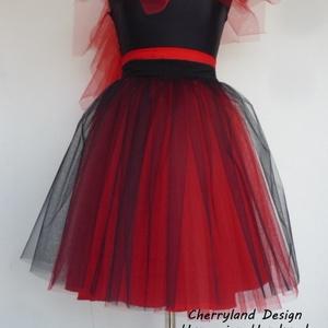 Cherryland Design Piros Árnyalat Tüll szoknya /Red Shades Tulle skirt, Ruha & Divat, Női ruha, Szoknya, Varrás, Meska