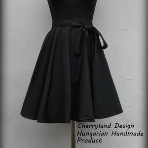 Cherryland Design Fekete Taft szoknya., Ruha & Divat, Női ruha, Szoknya, Varrás, Meska