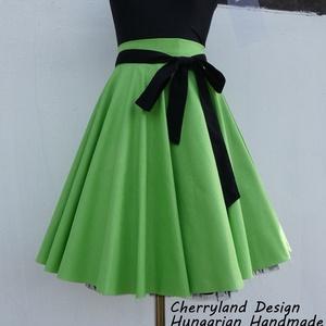 Cherryland Design Zöld  Rockabilly stílusú szoknya /Alsószoknya, Ruha & Divat, Szoknya, Női ruha, Varrás, Meska