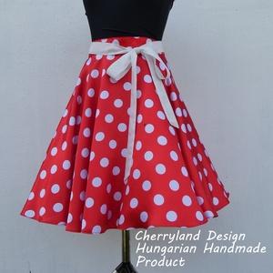 Minnie Mouse jelmez, Rockabilly Pin Up stílusú pöttyös szoknya , Szoknya, Női ruha, Ruha & Divat, Varrás, Minnie Mouse jelmez.\nMinnie Rockabilly Pin Up Stilusú Pöttyös Szoknya\nPöttyös Szaténból készült,  sz..., Meska