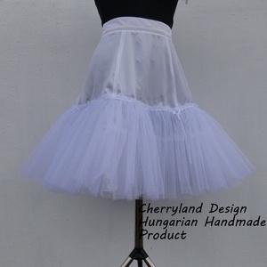 Fehér alsószoknya pörgős szoknyához, Rockabilly stílusú ruhához), Ruha & Divat, Női ruha, Szoknya, Varrás, Meska