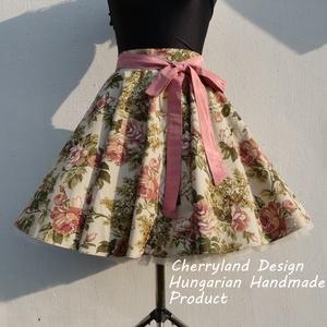 """Cherryland Design \""""Vintage\"""" Virágmintás Rockabilly Szoknya /Alsószoknyával., Ruha & Divat, Női ruha, Szoknya, Varrás, Cherryland Design \""""Vintage\"""" Virágmintás Rockabilly Szoknya /Alsószoknyával. \n\nA szoknya elkészítéshe..., Meska"""