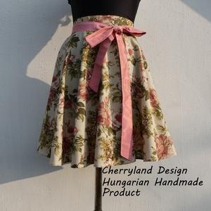 """Cherryland Design \""""Vintage\"""" virágmintás rockabilly szoknya., Táska, Divat & Szépség, Ruha, divat, Női ruha, Szoknya, Varrás, Cherryland Design \""""Vintage\"""" virágmintás Rockabilly szoknya.\nKlasszikus Rockabilly stílusú  vidám szo..., Meska"""