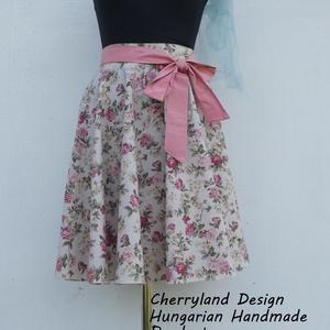 """Cherryland Design \""""Vintage\"""" virágmintás rockabilly szoknya., Ruha & Divat, Női ruha, Szoknya, Varrás, Cherryland Design \""""Vintage\"""" virágmintás Rockabilly szoknya.\nKlasszikus Rockabilly stílusú  vidám szo..., Meska"""