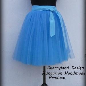 """Cherryland Design \""""Baba\""""Kék Tüll Szoknya˛/Blue Tulle Skirt, Táska, Divat & Szépség, Ruha, divat, Gyerekruha, Női ruha, Szoknya, Varrás, Cherryland Design Tűrkízkék Tüll Szoknya˛/Blue Tulle Skirt \nEgyedi méretek alapján , megrendelésre k..., Meska"""
