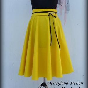 Cherryland Design Sárga pamutvászon   Rockabilly stílusú szoknya /ALSÓSZOKNYA NÉLKÜL!, Táska, Divat & Szépség, Ruha, divat, Női ruha, Esküvő, Szoknya, Varrás, Cherryland Design Sárga  pamutvászon Rockabilly stílusú szoknya / ALSÓSZOKNYA NÉLKÜL!\nEgyedi méretek..., Meska