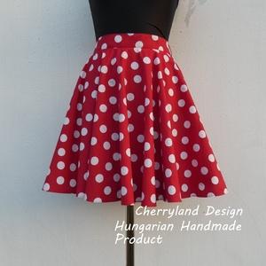 Minnie Mouse jelmez , Rockabilly Pin Up stílusú pöttyös szoknya ., Szoknya, Női ruha, Ruha & Divat, Varrás, Minnie Mouse jelmez,\nMinnie Rockabilly/Pin Up stílusú pöttyös szoknya\nKlasszikus stílusú vidám szokn..., Meska