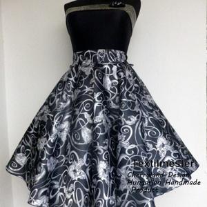 Cherryland Design Fekete Tulipán szoknya /Alsószoknyával., Ruha & Divat, Női ruha, Szoknya, Varrás, Cherryland Design  rockabilly szoknya .\nUTOLSÓ DARAB, ezért a szoknya egy megadott méretre tud elkés..., Meska