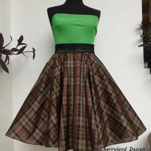 Cherryland Design Kockás szoknya., Ruha & Divat, Női ruha, Szoknya, Varrás, Cherryland Design  rockabilly szoknya .\nUTOLSÓ DARAB, ezért a szoknya egy megadott méretre tud elkés..., Meska