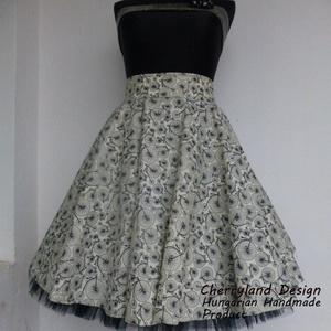 Cherryland Design Bringás  szoknya /Alsószoknyával., Ruha & Divat, Női ruha, Szoknya, Varrás, Cherryland Design  rockabilly szoknya .\nUTOLSÓ DARAB, ezért a szoknya egy megadott méretre tud elkés..., Meska