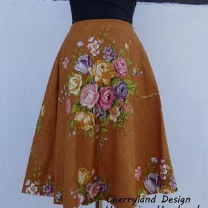 Cherryland Design Viragcsendélet szoknya., Ruha & Divat, Női ruha, Szoknya, Varrás, Cherryland Design   szoknya .\nUTOLSÓ DARAB, ezért a szoknya egy megadott méretre tud elkészülni, ezé..., Meska