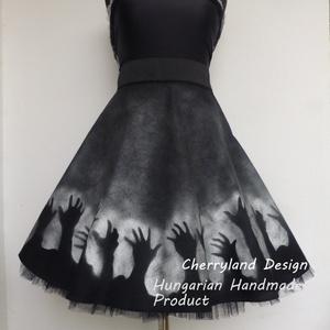 Cherryland Design  Limitált Szériás Szoknya/Alsószoknya, Ruha & Divat, Női ruha, Szoknya, Varrás, Festészet, Cherryland Desing limitált szériás szoknya.Egyedi méretben és kivitelben készül.\nHalloween Bulikra ,..., Meska