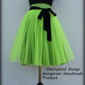 Cherryland Design Neon Zöld Tüll Szoknya˛/Neon Green Tulle Skirt, Ruha & Divat, Női ruha, Szoknya, Varrás, Cherryland Design Neon Zöld Tüll Szoknya˛/Neon Green Tulle Skirt\n\nEgyedi méretek alapján , megrendel..., Meska