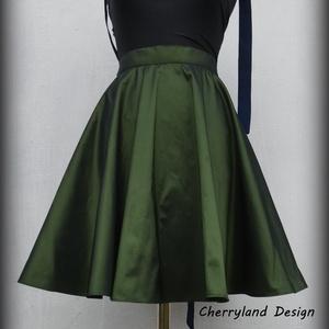 Cherryland Design zöldTaft szoknya., Ruha & Divat, Női ruha, Szoknya, Varrás, Meska