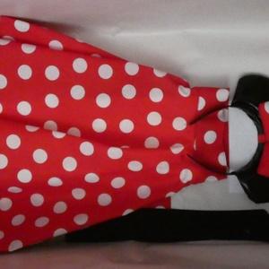 Minnie Mouse kislány jelmez, Ruha & Divat, Jelmez & Álarc, Jelmez, Varrás, Egy jelmez, ami biztosan nem jön szembe veled az ovis bálon, a sulis farsangon, vagy a farsangi part..., Meska