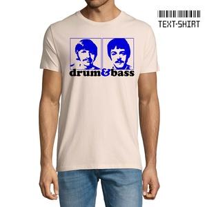 Drum and Bass Beatles póló, Ruha & Divat, Férfi ruha, Póló, Fotó, grafika, rajz, illusztráció, Mindenmás, Drum (Ringo) & Bass (Paul) póló.\nKiemelkedő pólóminőség és a legkorszerűbb eljárással készült nyomat..., Meska
