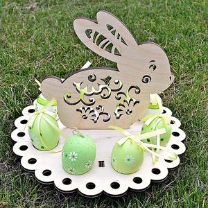 Festhető fa tojástartó nyuszi természetes anyagból, Otthon & Lakás, Dekoráció, Dísztárgy, Gravírozás, pirográfia, Meska