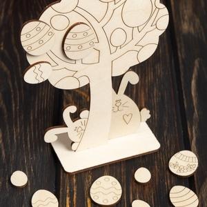 Festhető tojásfa nyuszikkal, Egyéb, Csináld magad leírások, Gyerek & játék, Játék, Gyerekszoba, Gravírozás, pirográfia, MIHEZ KEZDJEK A GYEREKKEL BEZÁRVA?\nAlkossunk együtt! Tojásfa természetes anyagból több méretben (nag..., Meska