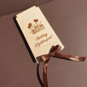 Csoki átadó fadoboz, Otthon & Lakás, Tárolás & Rendszerezés, Doboz, Famegmunkálás, Gravírozás, pirográfia, Csoki átadó doboz, de bármit lehet bele tenni: csokit, pénzt, színházi jegyet vagy ajándék utalványt..., Meska