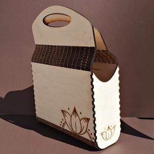 Fa design női táska tulipános mintával (tfzsuzsa) - Meska.hu
