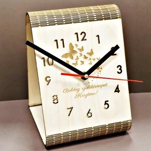 Asztali óra egyedi felirattal gravírozva, Férfiaknak, Otthon & lakás, Egyéb, Lakberendezés, Falióra, óra, Vallási tárgyak, Horgászat, vadászat, Famegmunkálás, Gravírozás, pirográfia, Ha valami igazán kifejezőt keresel, akkor ez a design asztali óra nagyon jó választás, hiszen már ön..., Meska