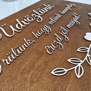 ESKÜVŐI TÁBLA � ÜDVÖZLŐ  - esküvő - dekoráció - tábla & jelzés - Meska.hu