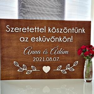 ESKÜVŐI TÁBLA � ÜDVÖZLŐ - NEVES - Meska.hu