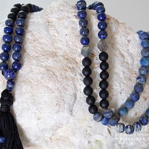 Tisztánlátás Imafüzér - Lapisz Lazuli Mala - Lapisz Lazuli nyaklánc, Lápisz Lazuli nyaklánc, Lápisz Lazuli Mala, Ékszer, Nyaklánc, Ékszerkészítés, Csomózás, Tisztánlátás Imafüzét - Lapisz Lazuli Mala - Lapisz Lazuli nyaklánc, Lápisz Lazuli nyaklánc, Lápisz ..., Meska