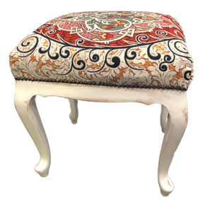 Neobarokk stílusú ülőke, Otthon & lakás, Bútor, Szék, fotel, Dekoráció, Lakberendezés, Famegmunkálás, Varrás, Neobarokk stílusú ülöke, új török texíliával kárpitozva. Kézműves termék, ebből a kompozícióból ez a..., Meska