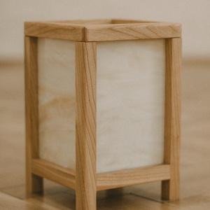 Shoji lámpa, Lakberendezés, Otthon & lakás, Lámpa, Asztali lámpa, Hangulatlámpa, Famegmunkálás, Üvegművészet, Japán stílusú fából és üvegből készült asztali lámpa. \n\nMéretei: 24,5 x 16 x 16 cm, Meska