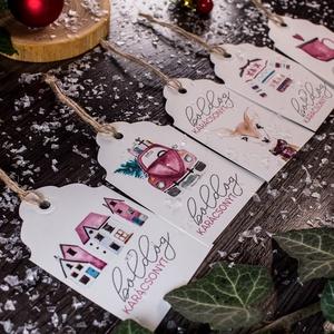 Karácsonyi kísérőkártya csomag verz.5., Otthon & Lakás, Karácsony & Mikulás, Karácsonyi képeslap, Papírművészet, Karácsonyi kísérőkártya csomag:\n\nA csomagtartalma:\n- 5 db 10,5x6,5 cm 200 g-os művészpapírból, egyed..., Meska