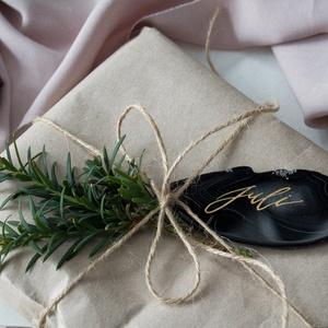Ásványlap karácsonyi ajándékkísérő , Karácsonyi csomagolás, Karácsony & Mikulás, Otthon & Lakás, Mindenmás, Ha feldobnád valami egyedivel a karácsonyi ajándékaidat, ez az ásványlap ajándékkísérő jó lehet hozz..., Meska