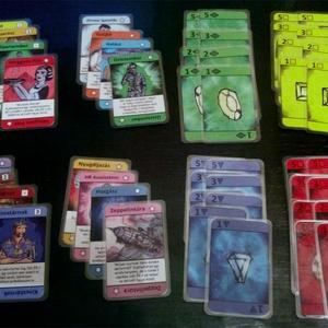 Ékkövek Kártyajáték, Játék, Gyerek & játék, Társasjáték, Képzőművészet, Otthon & lakás, Illusztráció, Fotó, grafika, rajz, illusztráció, Fordulatos, gyors tempójú kártyajáték, melyben minél több ékkő összegyűjtése a cél. Figyelem: bár a ..., Meska