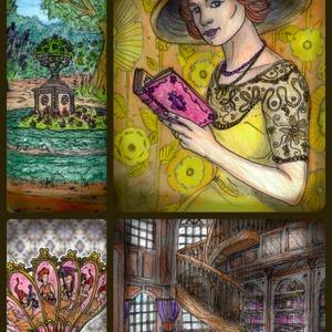 Meseszövő Mesterek - Illusztráció Kollekció - Lady Bookbind, Dekoráció, Otthon & lakás, Kép, Képzőművészet, Illusztráció, Fotó, grafika, rajz, illusztráció, Saját kezűleg készített színesceruza- és tusrajz illusztrációk digitálisan feldolgozott, A4-es méret..., Meska