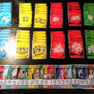 Ékkövek Kártyajáték - Bővített Változat, Játék, Gyerek & játék, Társasjáték, Képzőművészet, Otthon & lakás, Illusztráció, Fotó, grafika, rajz, illusztráció, Fordulatos, gyors tempójú kártyajáték, melyben minél több ékkő összegyűjtése a cél. Figyelem: bár a ..., Meska