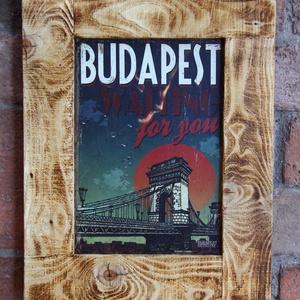 Képkeret, rusztikus keret Vintage képpel (TomArtCollection) - Meska.hu