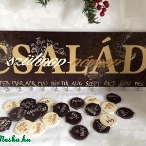 Szülinapos emlékeztető tábla-dark chocolate (Tibandi) - Meska.hu