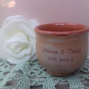 Feliratos pálinkás kupicák- esküvői kísérőajándék, Esküvő, Nászajándék, Emlék & Ajándék, Szép ajándék és emlék a násznépnek az  ifjú pártól. A poharakon matricázva a pár neve, dátum, igény ..., Meska