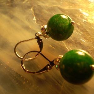 Zöld JADE valódi drágakő fülbevaló 925-ös fülbevaló franciakapcsos , Ékszer, Fülbevaló, Ékszerkészítés, Zöld JADE valódi drágakő fülbevaló 925-ös fülbevaló franciakapcsos \nEzüstözött, ródiumos a kapocs, i..., Meska