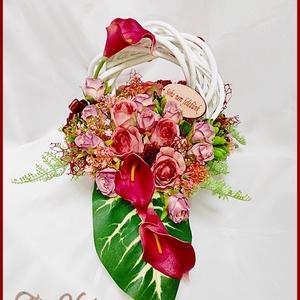 Virágtál Vintage Őszi színekben Mindszentek, Halottak napjára vagy megemlékezésre ajánlom, Otthon & Lakás, Dekoráció, Koszorú, Virágtál Vintage Őszi színekben Mindszentek, Halottak napjára vagy megemlékezésre ajánlom Méretei: 4..., Meska