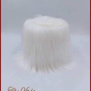 Műszőrme fehér, Textil, Virágkötészet, Bábkészítés, mackóvarrás, Műszőrme fehér hosszú Mérete: 150cmx10cm, Alkotók boltja