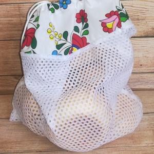 Bevásárló hálós zsák, Zöldség/Gyümölcs zsák, Bevásárlás & Shopper táska, Táska & Tok, Varrás, A környezettudatosság jegyében ajánlom ezeket a praktikus hálós zsákokat! Olyat is készítek, aminek ..., Meska