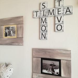 Scrabble dekoráció, Lakberendezés, Otthon & lakás, Falikép, Dekoráció, Kép, Famegmunkálás, Festett tárgyak, Scrabble betűkkel is dekorálhatsz otthon és remek ajándéknak is. Írd meg a te szoveged :). \nA  dekor..., Meska