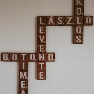 Scrabble dekoráció - dió, Otthon & lakás, Lakberendezés, Falikép, Dekoráció, Kép, Famegmunkálás, Festett tárgyak, Scrabble betűkkel is dekorálhatsz otthon és remek ajándéknak is. Írd meg a te szoveged :). \nScrabble..., Meska