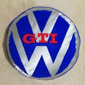 Volkswagen GTI párna, Férfiaknak, Otthon & lakás, Lakberendezés, Lakástextil, Párna, Varrás, Volkswagen GTI rajongóknak készült párna!\nÁtmérője 38cm\nVastagsága 7cm\n\nTöltet szilikonizált poliész..., Meska