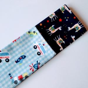 2 db-os kisfiú textil zsebkendő szett, JÁRMŰVES + LÁMÁS (Timodesign) - Meska.hu