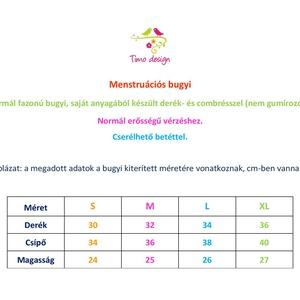 S-es méretű fekete menstruációs bugyi (Timodesign) - Meska.hu