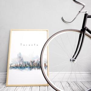 Toronto Digitális festmény, watercolor technika, falikép, poszter, Otthon & Lakás, Kép & Falikép, Dekoráció, Fotó, grafika, rajz, illusztráció, Meska