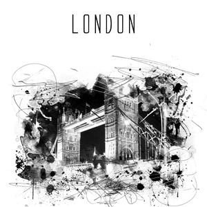 London digitális watercolor falikép, poszter, dekor, Otthon & Lakás, Kép & Falikép, Dekoráció, Fotó, grafika, rajz, illusztráció, Meska